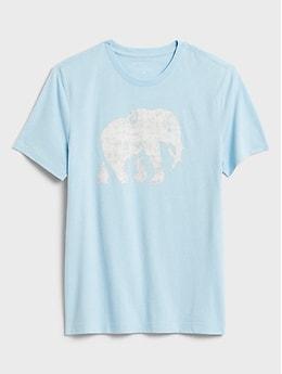 Banana Republic Factory Elephant Logo Graphic T-Shirt