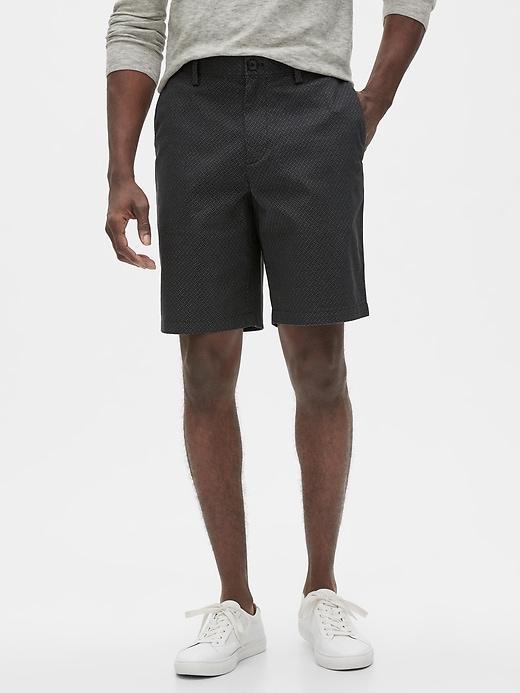 """10"""" Aiden Slim-Fit Geo Print Shorts"""