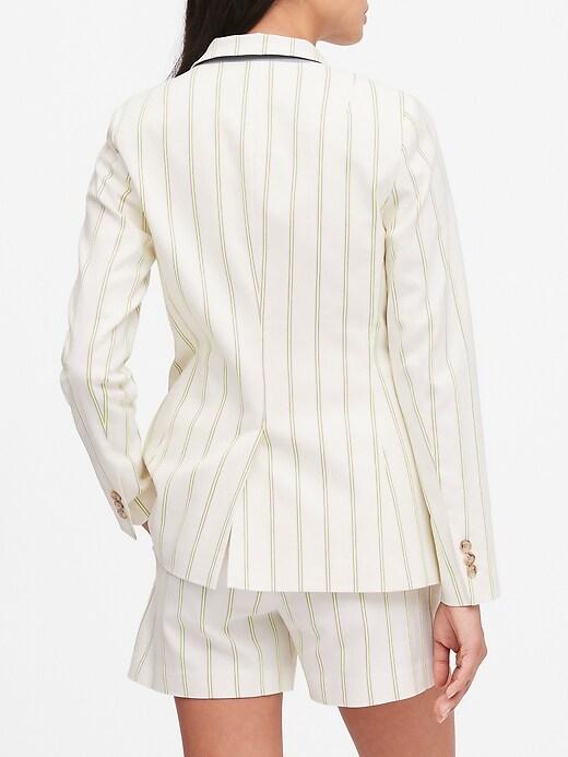 Petite Long & Lean-Fit Stripe Blazer