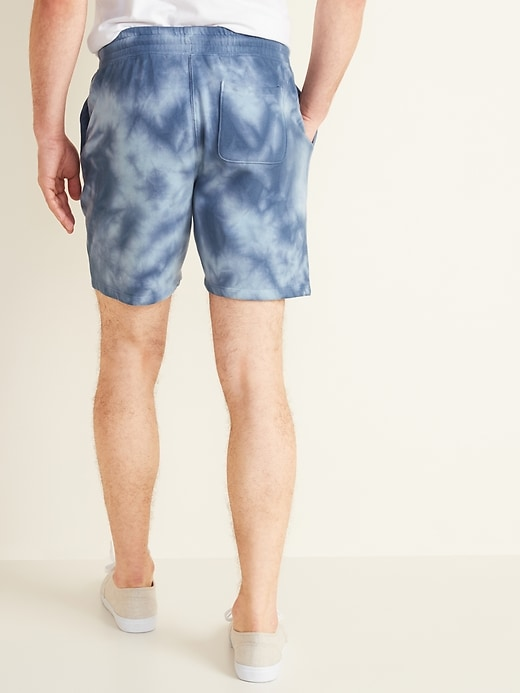 Tie-Dyed Jogger Shorts for Men -- 7.5-inch inseam