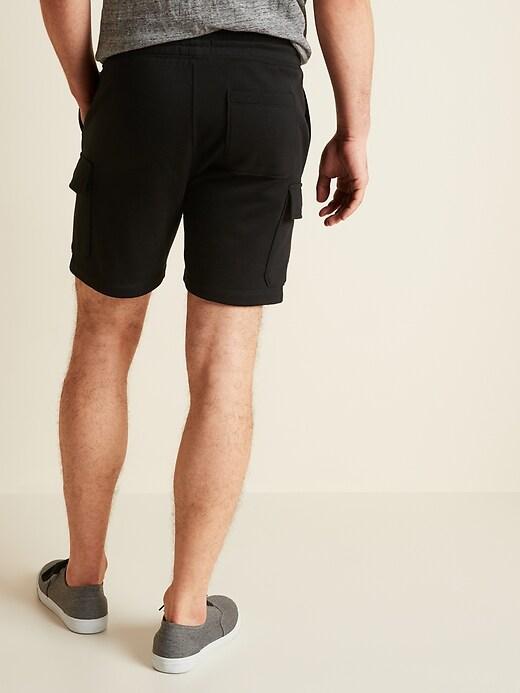 Drawstring Fleece Cargo Shorts for Men