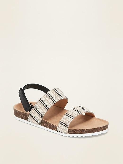 Textured-Stripe Molded Sandals for Girls