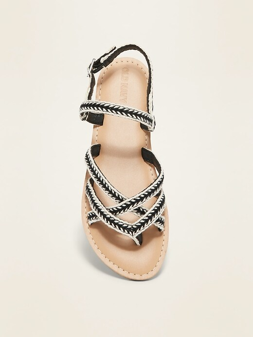 Strappy Webbed-Canvas Sandals for Girls