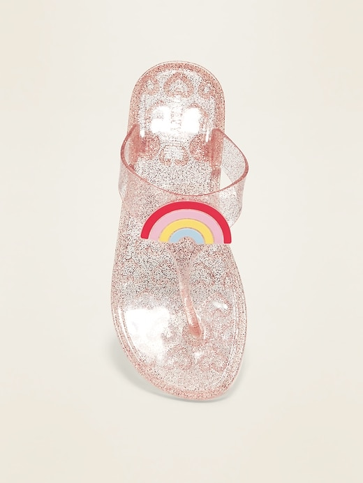 Icon-Graphic Jelly Sandals for Girls