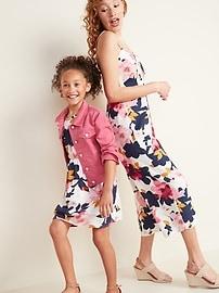Tie-Front Linen-Blend Cami Jumpsuit for Women