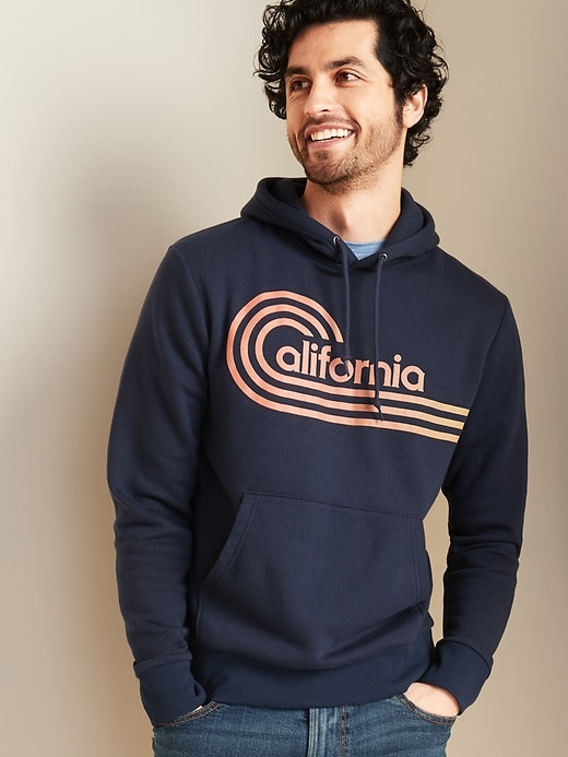 """California"" Graphic Pullover Hoodie for Men"