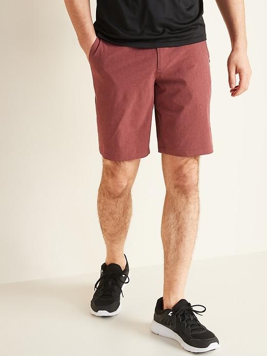 Slim Go-Dry Shade StretchTech Shorts for Men -- 10-inch inseam