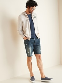 """""""North Shore"""" Graphic French Terry Zip Hoodie for Men"""