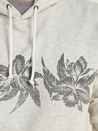 Hibiscus-Graphic Pullover Hoodie for Men