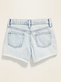 Light-Wash Jean Cut-Off Shorts for Girls