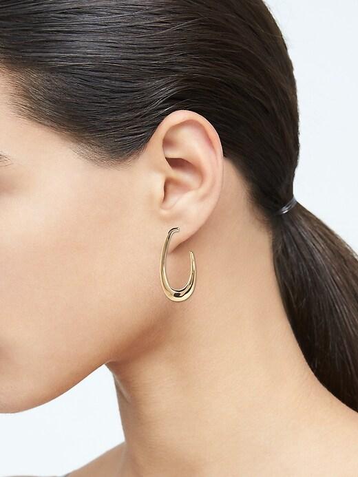 Drops of Dew Oval Hoop Earrings