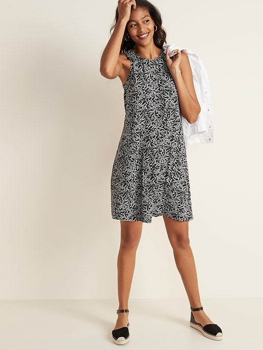 Sleeveless Jersey Swing Dress for Women