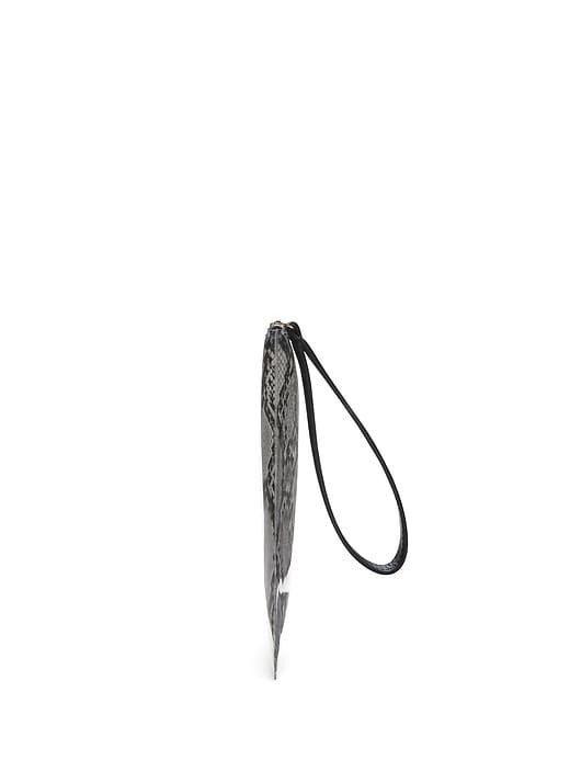 Snake Print PVC Wristlet Clutch