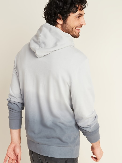 Dip-Dyed French Terry Pullover Hoodie for Men