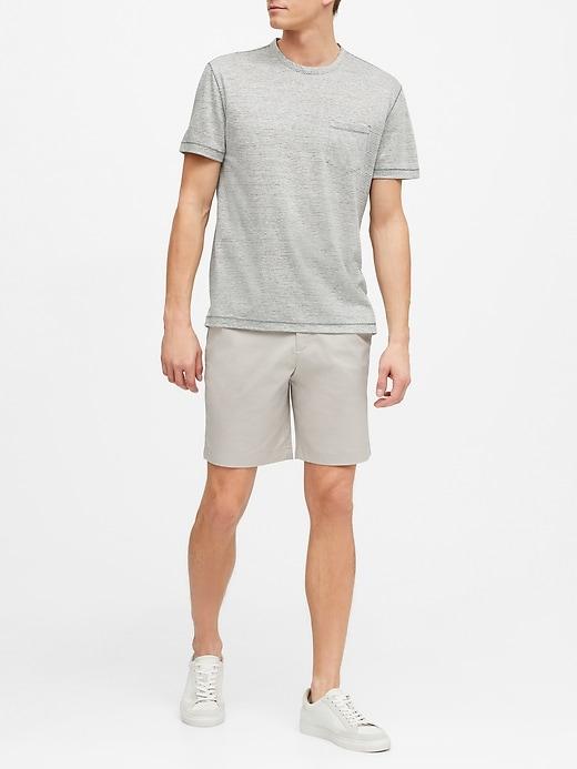 Linen Crew-Neck T-Shirt