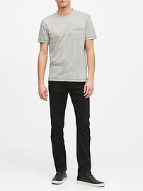 Slim LUXE Traveler Black Jean