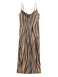 Zebra Print Slip Dress