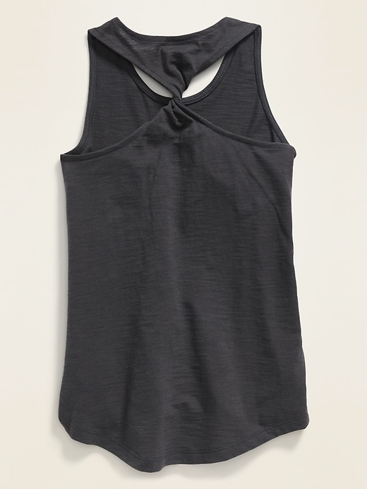 Graphic Twist-Back Tank Top for Girls