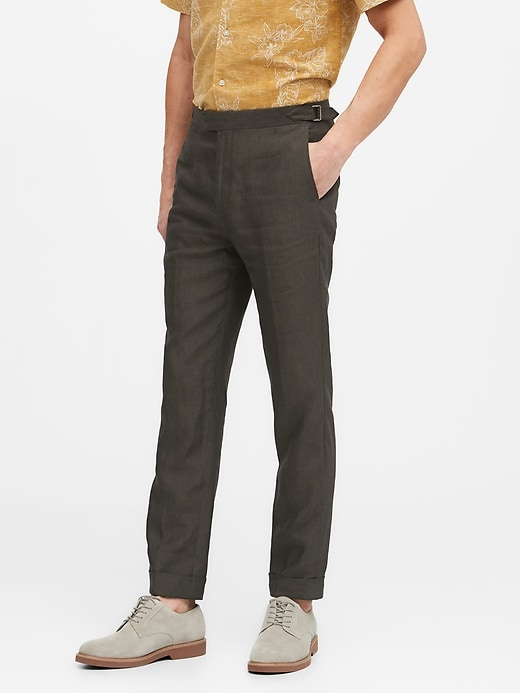 Slim Tapered Linen Suit Pant