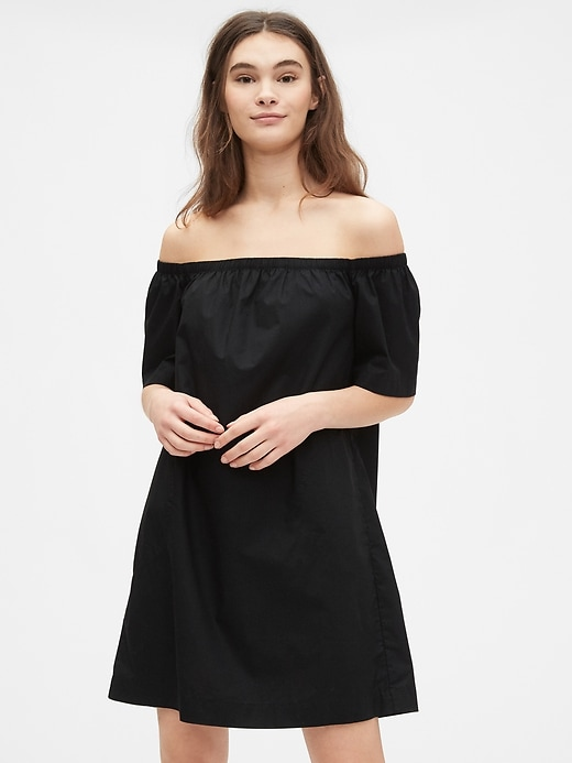 Off The Shoulder Dress in Poplin