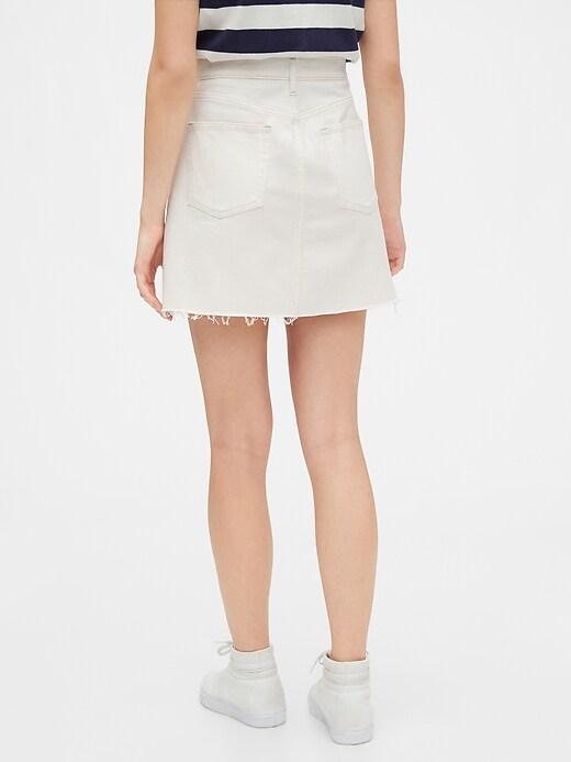 High Rise Denim Skirt