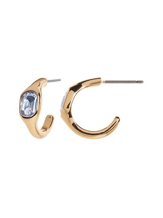 Gem Small Hoop Earrings
