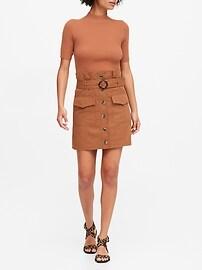 Petite Paperbag Utility Skirt