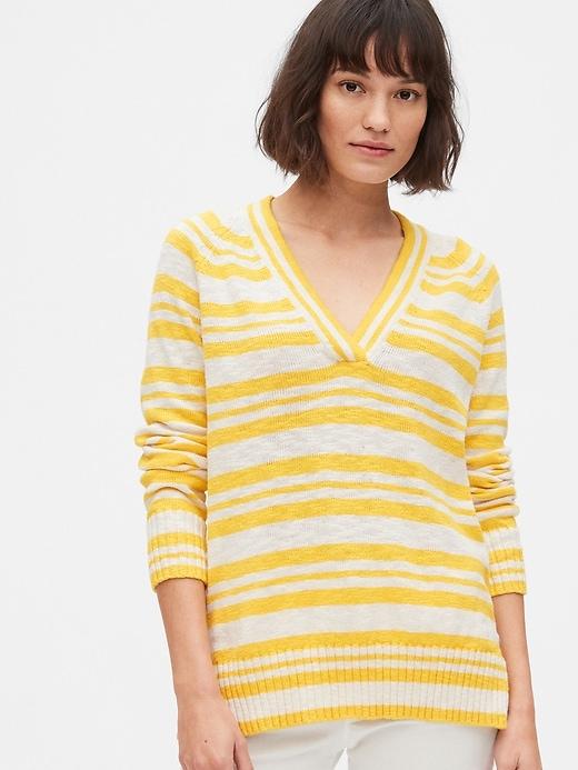 V-Neck Sweater Tunic