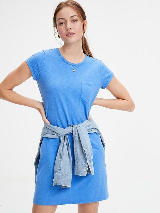 Pocket Short Sleeve Shirtdress