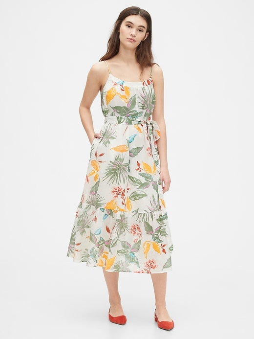 Cami Midi Dress in Linen-Cotton