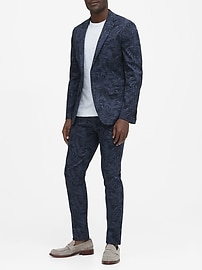 Slim Tapered Stretch-Cotton Suit Pant