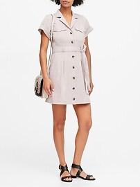 Linen-Cotton Utility Dress