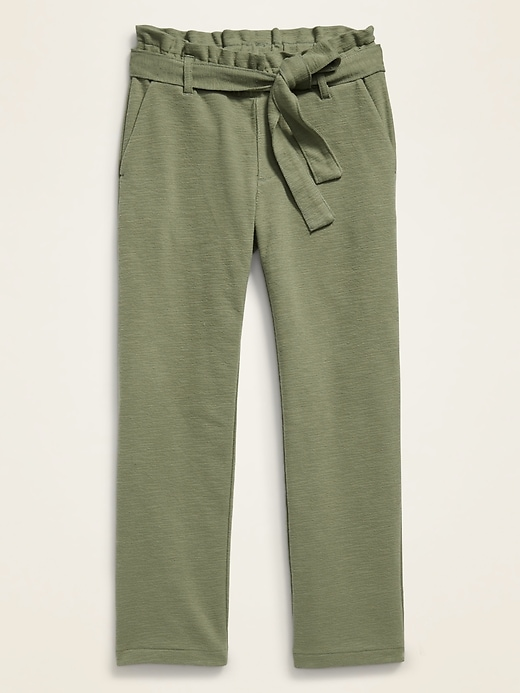 Jersey-Knit Pull-On Cropped Pants for Girls