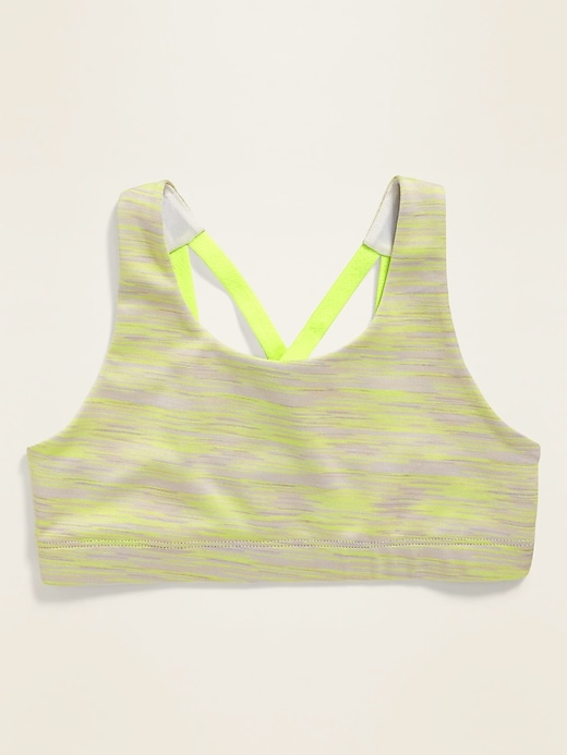 Go-Dry Cool Strappy Space-Dye Sports Bra for Girls