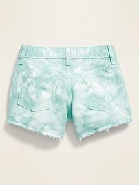 Tie-Dye Cut-Off Twill Shorts for Girls