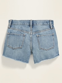 High-Waisted Button-Fly Distressed Jean Cut-Off Shorts for Girls