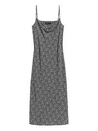 Petite Leopard Print Slip Dress