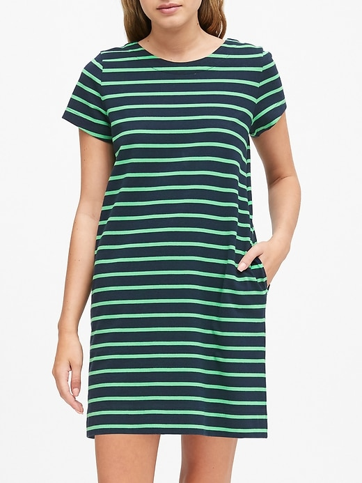 Petite Stripe T-Shirt Mini Dress