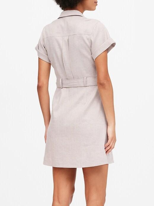 Petite Linen-Cotton Utility Dress