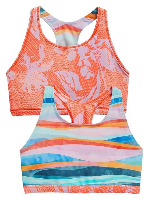 Athleta Girl Wave Break Reversible Bikini Top