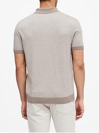 Silk Cotton-Cashmere Sweater Polo