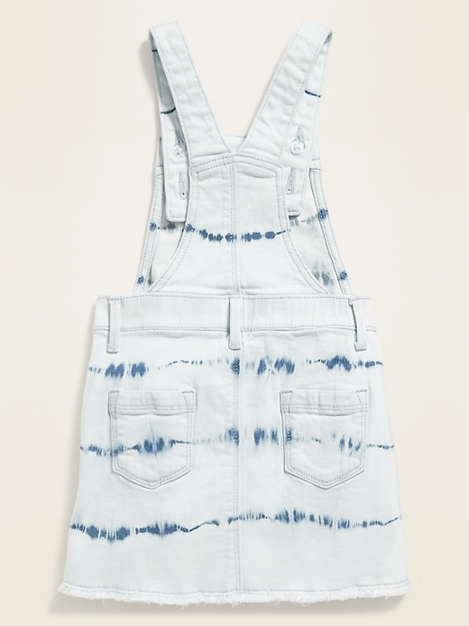Tie-Dyed Jean Skirtall for Toddler Girls