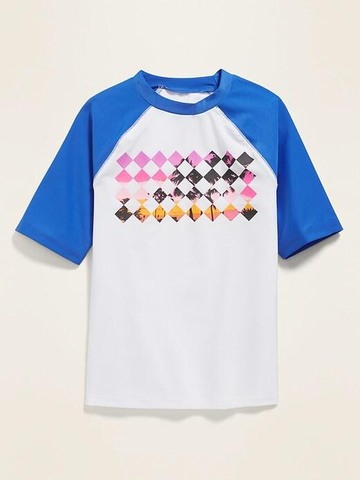 Graphic Color-Blocked Rashguard for Boys