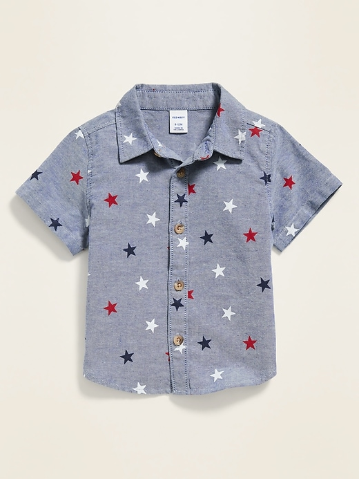 Americana-Print Oxford Shirt for Baby
