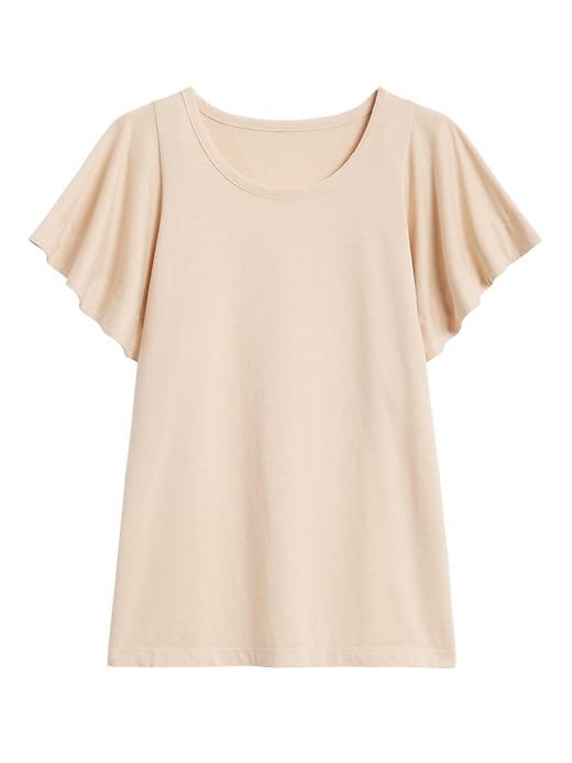 SUPIMA® Cotton Flutter-Sleeve Top