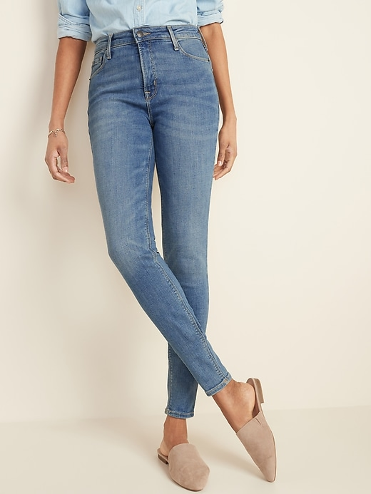 High-Waisted Rockstar Super Skinny Ankle Jeans For Women