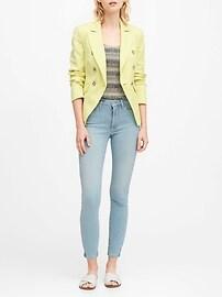 Double-Breasted Linen-Cotton Blazer