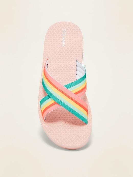 Crisscross-Strap Platform Flip-Flops for Girls