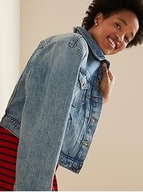 Cropped Medium-Wash Jean Jacket for Women