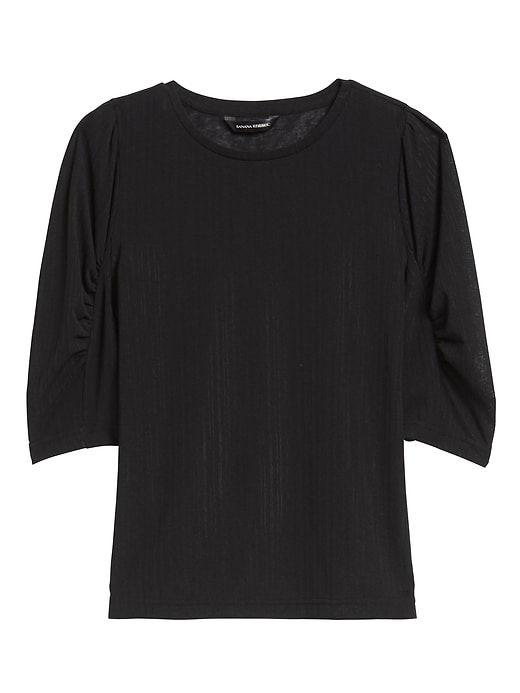 Ruched-Sleeve Top